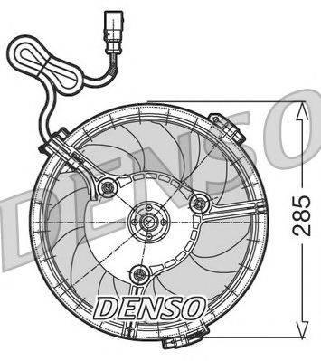 NPS DER02005 Вентилятор, охлаждение двигателя