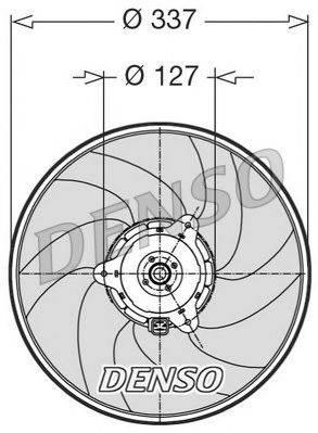 NPS DER21002 Вентилятор, охлаждение двигателя