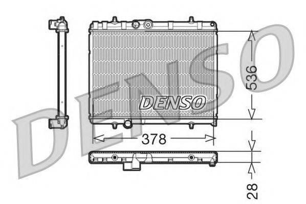 NPS DRM21056 Радиатор, охлаждение двигателя