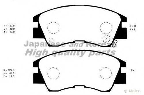 ASHUKI C00701 Комплект тормозных колодок, дисковый тормоз