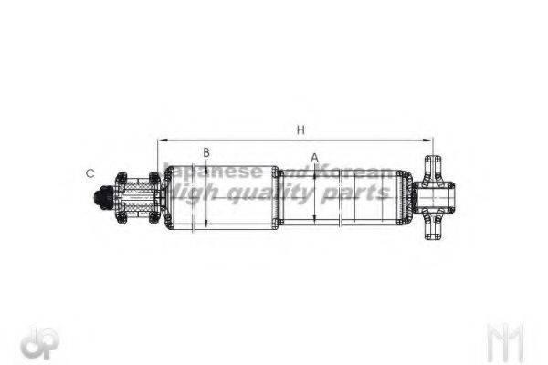 ASHUKI C33034I Амортизатор