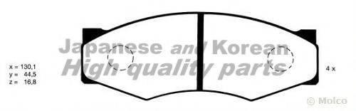 ASHUKI N00909 Комплект тормозных колодок, дисковый тормоз