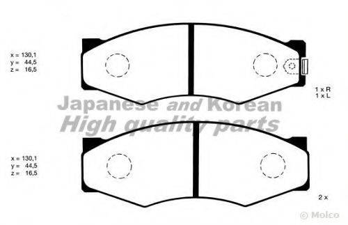 ASHUKI N00910 Комплект тормозных колодок, дисковый тормоз