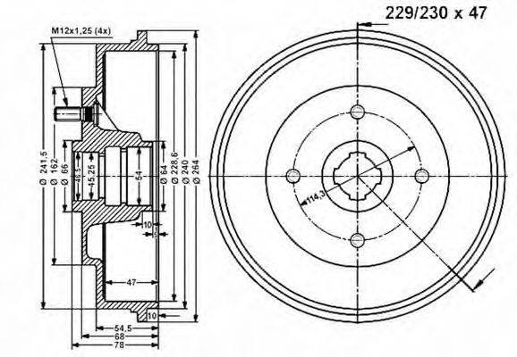 VEMA 801034 Тормозной барабан