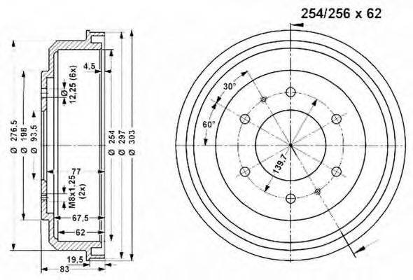 VEMA 801136 Тормозной барабан