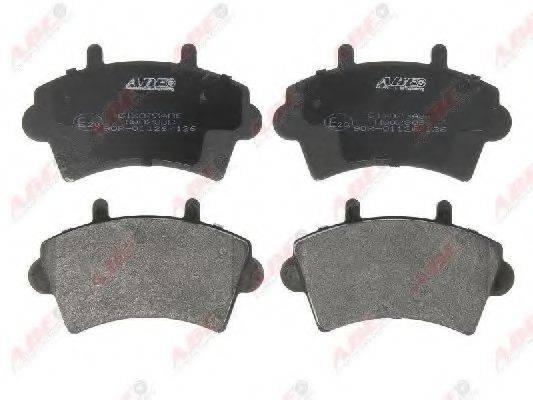 ABE C1X023ABE Комплект тормозных колодок, дисковый тормоз