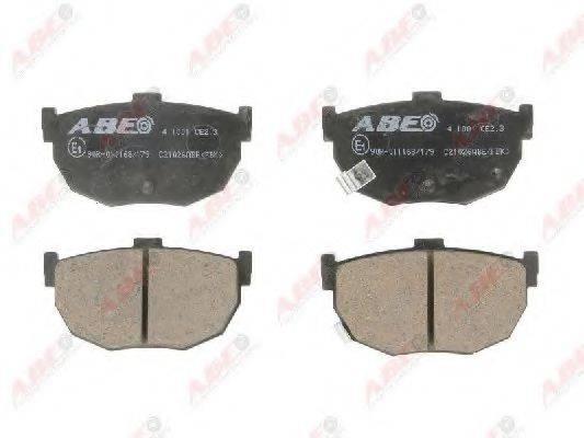 ABE C21026ABE Комплект тормозных колодок, дисковый тормоз