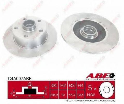 ABE C4A007ABE Тормозной диск
