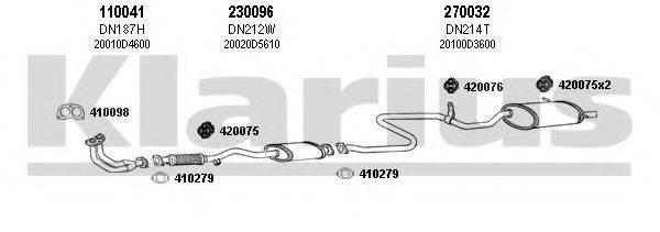 KLARIUS 270154E Система выпуска ОГ