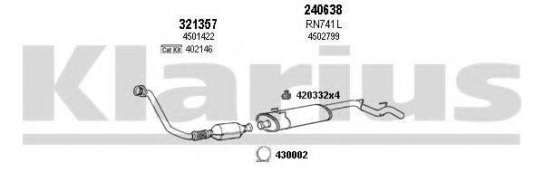 KLARIUS 391253E Система выпуска ОГ