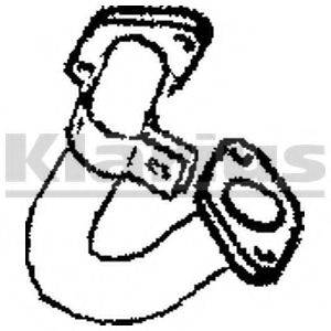 KLARIUS 301755 Труба выхлопного газа