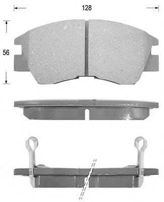 KAISHIN D6018 Комплект тормозных колодок, дисковый тормоз