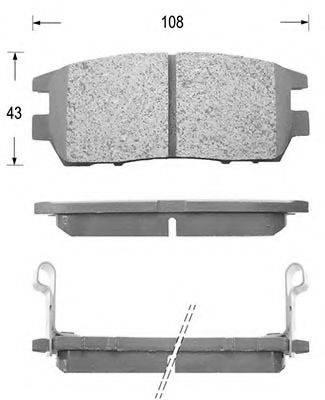 KAISHIN FK6054 Комплект тормозных колодок, дисковый тормоз