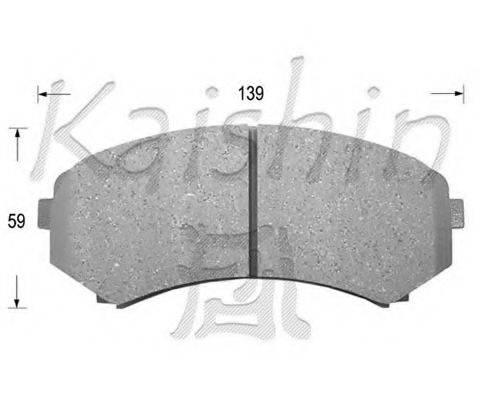 KAISHIN FK6085 Комплект тормозных колодок, дисковый тормоз