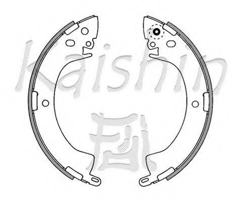 KAISHIN K6664 Комплект тормозных колодок