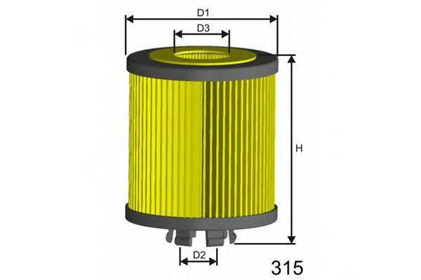 MISFAT L019 Масляный фильтр