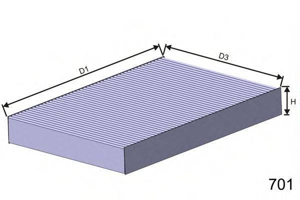MISFAT HB169C Фильтр, воздух во внутренном пространстве