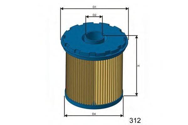 MISFAT FM655 Топливный фильтр
