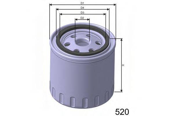MISFAT Z191 Масляный фильтр