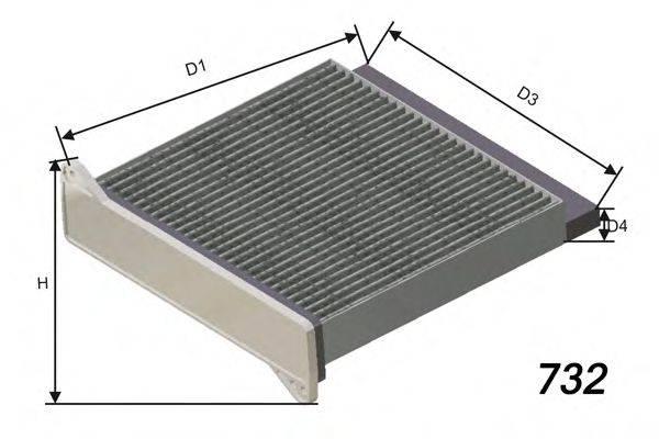 MISFAT HB229C Фильтр, воздух во внутренном пространстве
