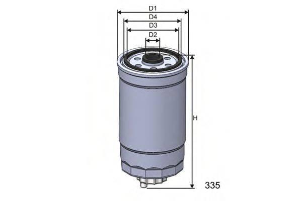 MISFAT M378 Топливный фильтр