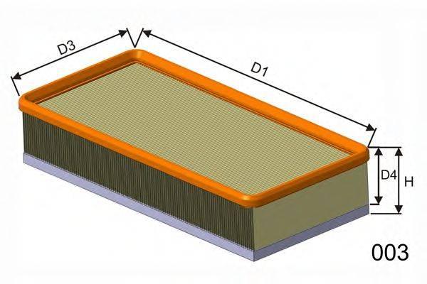 MISFAT P293A Воздушный фильтр