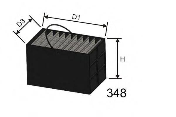 MISFAT M610 Топливный фильтр