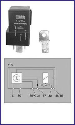 HITACHI 132064 Реле, система накаливания