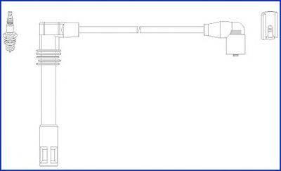 HITACHI 134803 Комплект проводов зажигания