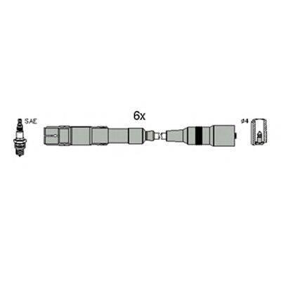 HITACHI 134796 Комплект проводов зажигания