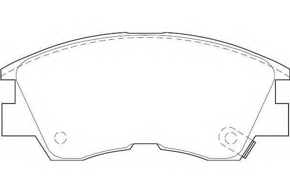 WAGNER WBP21373A Комплект тормозных колодок, дисковый тормоз