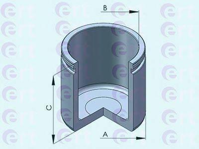 ERT 151060C Поршень, корпус скобы тормоза