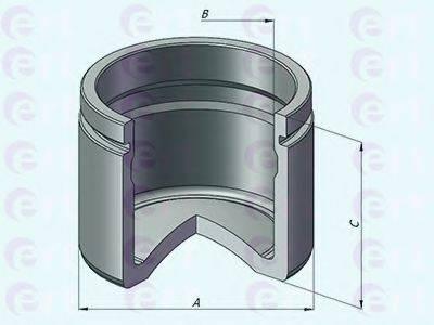 ERT 151199C Поршень, корпус скобы тормоза