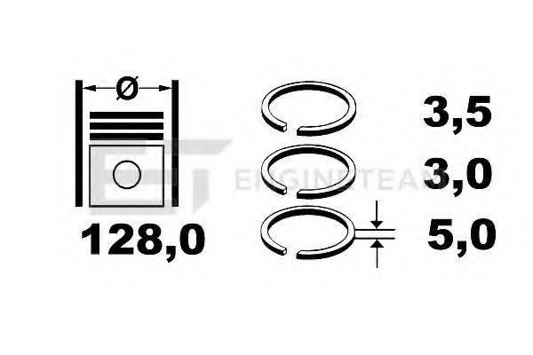 ET ENGINETEAM R1002800 Комплект поршневых колец