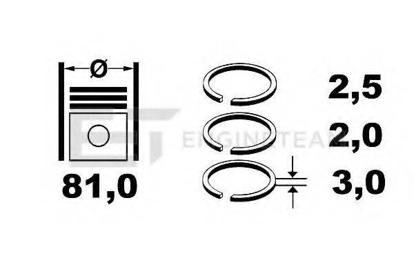 ET ENGINETEAM R1004900 Комплект поршневых колец