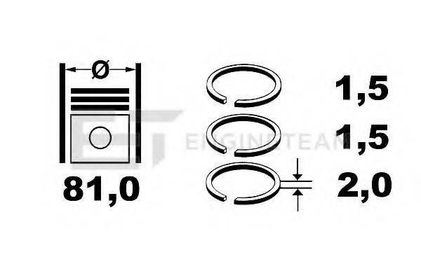 ET ENGINETEAM R1005300 Комплект поршневых колец