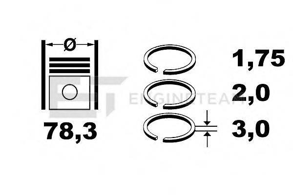 ET ENGINETEAM R1007700 Комплект поршневых колец