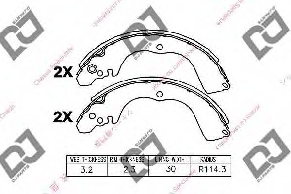 DJ PARTS BS1367 Комплект тормозных колодок