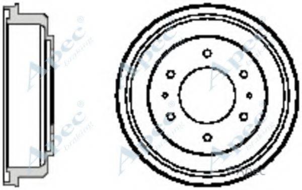 APEC BRAKING DRM9711 Тормозной барабан