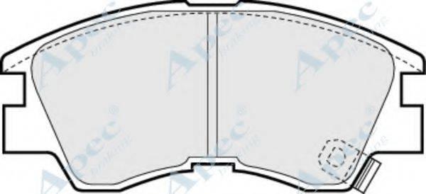 APEC BRAKING PAD717 Комплект тормозных колодок, дисковый тормоз