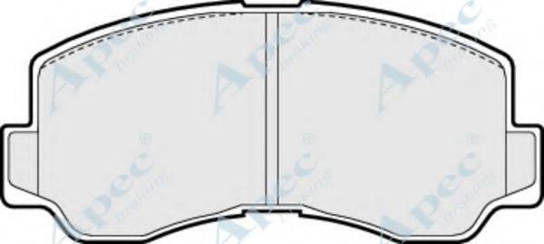 APEC BRAKING PAD727 Комплект тормозных колодок, дисковый тормоз
