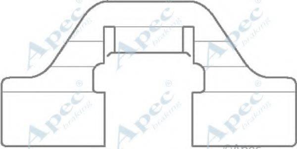 APEC BRAKING KIT1115 Комплектующие, тормозные колодки