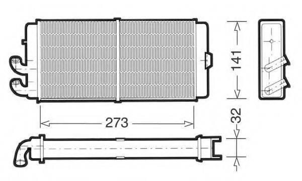 CTR 1228004 Теплообменник, отопление салона