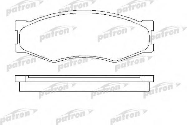 PATRON PBP340 Комплект тормозных колодок, дисковый тормоз