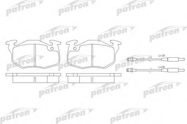 PATRON PBP393 Комплект тормозных колодок, дисковый тормоз