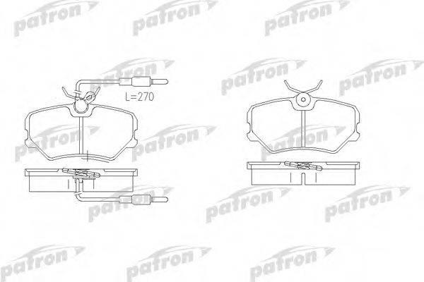 PATRON PBP540 Комплект тормозных колодок, дисковый тормоз