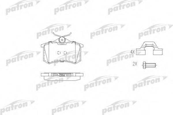 PATRON PBP541 Комплект тормозных колодок, дисковый тормоз