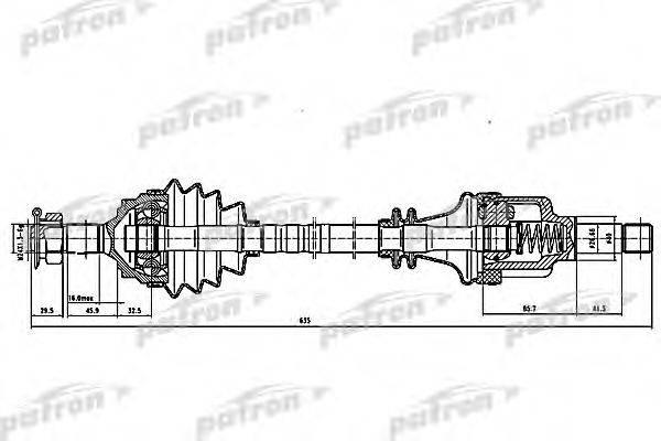 PATRON PDS0058 Приводной вал