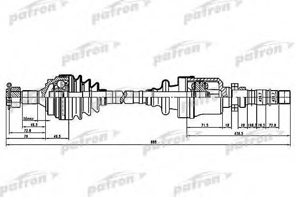 PATRON PDS0059 Приводной вал