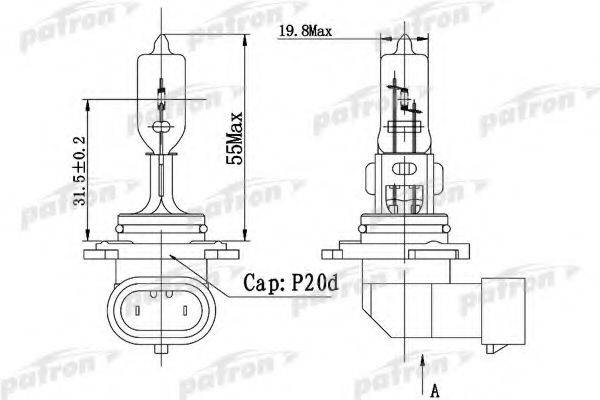 PATRON PLHB31260 Лампа накаливания, фара дальнего света; Лампа накаливания, основная фара; Лампа накаливания, противотуманная фара; Лампа накаливания, основная фара; Лампа накаливания, фара дальнего света; Лампа накаливания, противотуманная фара